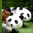 Panda-themed labyrinth seen at shopping mall in Liaoning