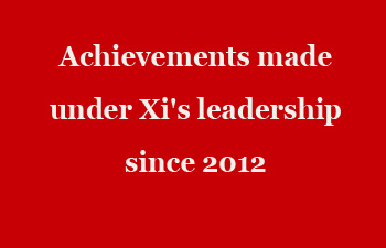 Achievements made under Xi's leadership since 2012