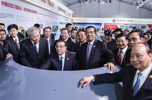 Chinese premier, LMC leaders visit exhibition in Phnom Penh
