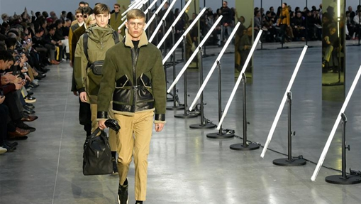 Creations of CERUTTI 1881 presented at men's fashion week in Paris