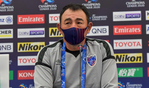Press conference held ahead of group F match between FC Tokyo and Shanghai Shenhua FC