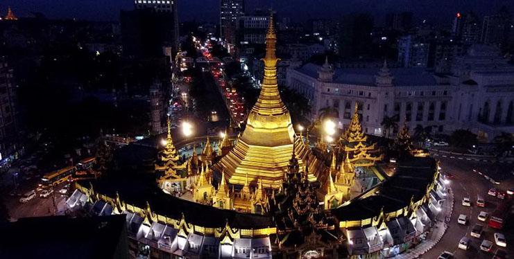 City view in Yangon, Myanmar