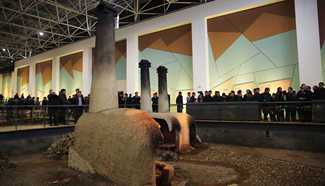 Tourists visit Ruguanyao kiln site in central China's Henan