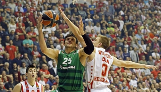 Crvena Zvezda beats Panathinaikos 72-66 at Euroleague basketball match