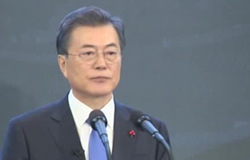 S. Korean president delivers speech a day after high-level inter-Korean talks