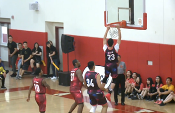 Chinese Elite Basketball team plays in Los Angeles